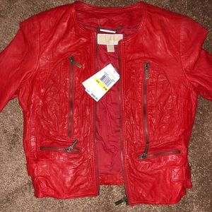 Brand New with tags! Michael Kors leather jacket.
